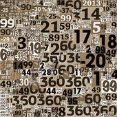 коллаж чисел из газетных вырезок. — Стоковое фото