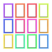 Modern plastic picture frames — Stock Photo