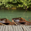 Wooden boats on water — Stock Photo #33142399