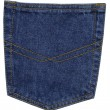 Blue jeans pocket, close up — Stock Photo #33142891