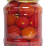 Glass jar of preserved tomato — Stock Photo #33143729