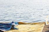 A towel on a beach — Stock Photo