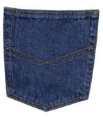 Blue jeans pocket, close up — Stock Photo
