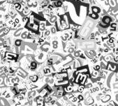 Numery jako tło — Zdjęcie stockowe