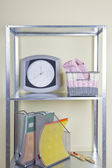 Shelves with different home related objects — Foto Stock