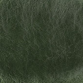 Green leather background or texture — Stock Photo