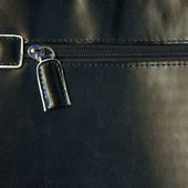 Zipper on a leather bag — Stock Photo