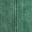 Stock Photo: Green jeans texture, stitch
