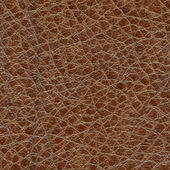 Natural brown leather texture — Stock Photo