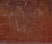 текстура натуральной коричневой кожи — Стоковое фото