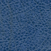 Blue leather texture closeup — Stock Photo