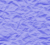 Sheet of blue crumpled paper — Stock Photo