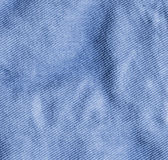 Blue crumpled fabric background — Stock Photo