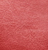 Red leather texture. Leather background — Stock Photo