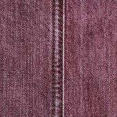 коричневые джинсы текстуры, стежка — Стоковое фото