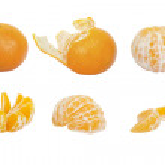 Set of ripe mandarins — Stock Photo #38071831