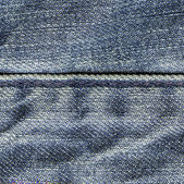 Blue jeans texture, stitch — Stockfoto