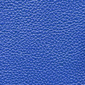 Blue leather texture closeup — Stock Photo
