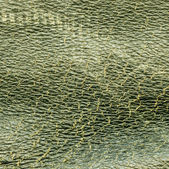 Green leather texture — Stock Photo