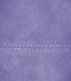 Lilac leather texture, stitch. — Stock Photo
