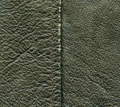 Worn green leather texture, — Stock Photo