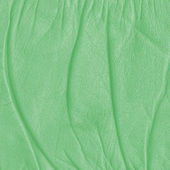 Green crumpled leather texture — Stock Photo