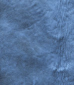 Crumpled blue leather texture   — Stock Photo