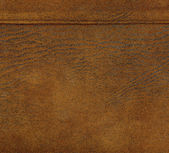 Brown  leather texture, stitch   — Stock fotografie