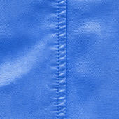 Blue leather texture, stitch — Stock Photo