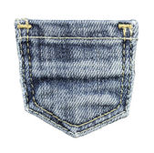 jeans pocket isolated on white background — Foto Stock