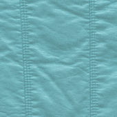 Blue crumpled leather texture, stitch — Foto Stock