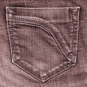 Brown jeans pocket — Stock Photo