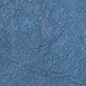 Cracked blue leather — Stock Photo