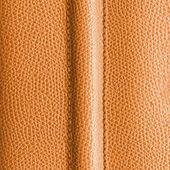 Yellow leather, seam — Stock Photo