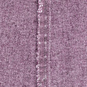 Violet jeans texture, seam  — Stock Photo