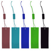 Set of different colored paper tags  — Stock Photo
