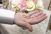 Bride's wedding bands — Stock Photo