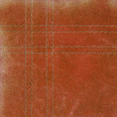 Brown worn leather texture, seams — Stock Photo
