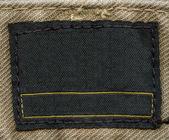 Blank  fabric label — Stockfoto