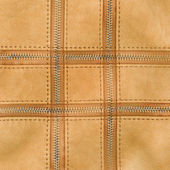 Leather texture, zippers — Stock Photo