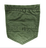 Green jeans  pocket — Stockfoto
