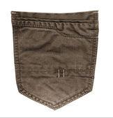 Brown jeans  pocket — Stockfoto