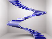 Spiralne schody w górę — Zdjęcie stockowe
