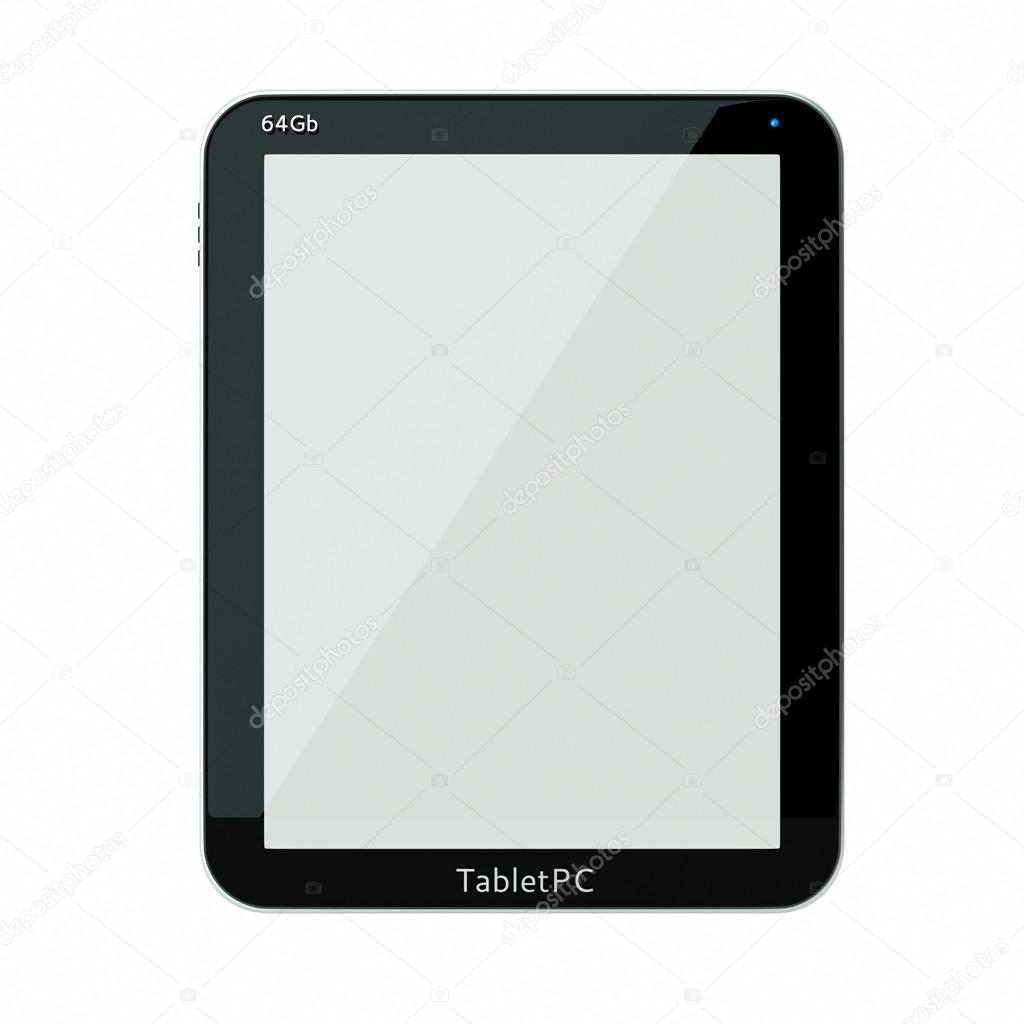 A tablet computer isolated on white — Stock Photo #12520408