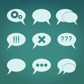 A vector set of creative bubble speech icons in retro style — Stock Photo