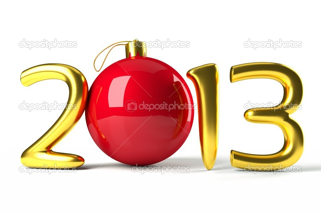 A 2013 symbol with xmas ball — Stock Photo #16935491