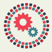 Creative vector mosaic icon — Stock Vector