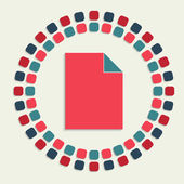 Kreativní vektor mozaika ikona — Stock vektor