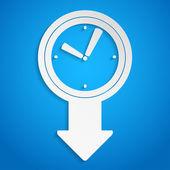 Klok pijl — Stockvector