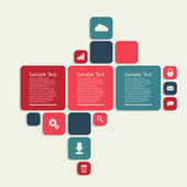Colorful vector template design — Stock Vector